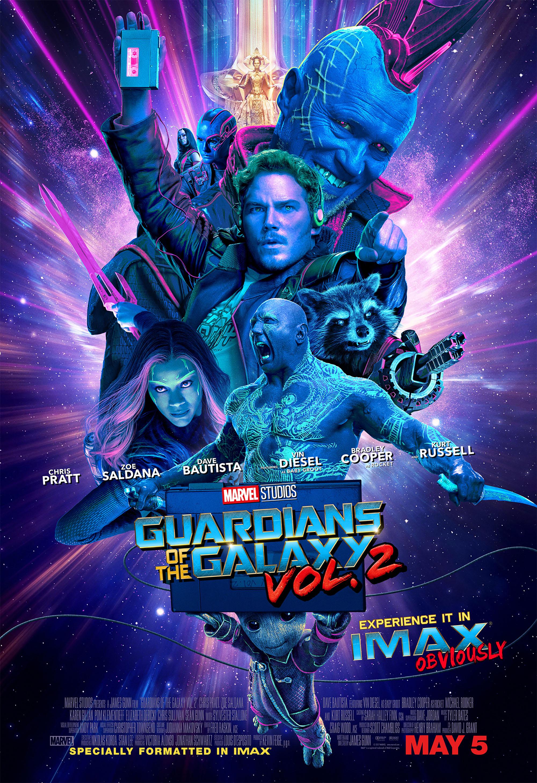 GUARDIOES DA GALAXIA 2 - POSTER IMAX